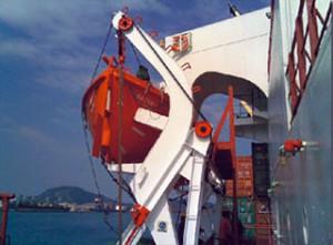 Inspeção de embarcações salva-vidas